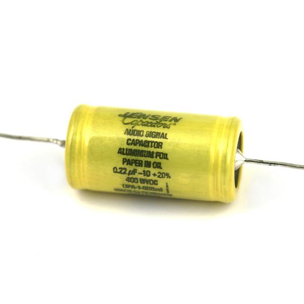 Конденсатор JensenКонденсатор<br>Напряжение, В: 400; Ёмкость, мкФ: 0.22<br>