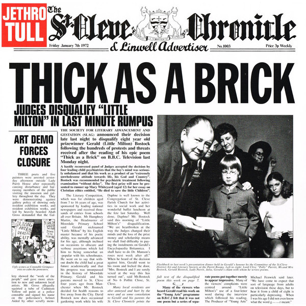 Jethro Tull Jethro Tull - Thick As A Brick ian anderson plays the orchestral jethro tull