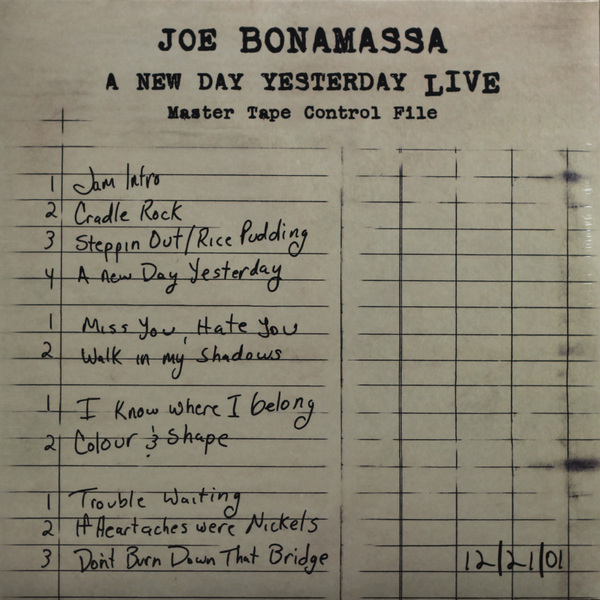 JOE BONAMASSA JOE BONAMASSA - A NEW DAY YESTERDAY LIVE (2 LP) yesterday печать люцифера цифровая версия