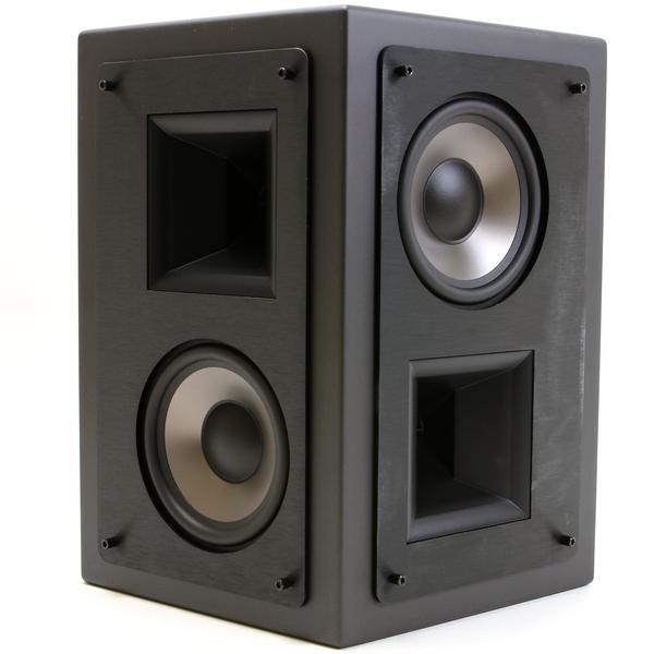 """Специальная тыловая акустика KlipschСпециальная тыловая акустика<br>Акустическая система для работы тыловых и/или боковых каналах системы окружающего звучания, сертификация THX Ultra2, 2 +2 полосы, 4 динамика, НЧ: 2 х 5,25"""", ВЧ: 2 х 1"""", чувствительность 96 дБ, импеданс 8 Ом, габариты 330 х 350 х 216 мм, вес 9,1 кг.<br>"""