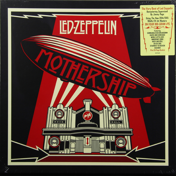 LED ZEPPELIN LED ZEPPELIN - MOTHERSHIP: THE VERY BEST OF LED ZEPPELIN (4 LP, 180 GR) 15 6 continent cc 031 redprints