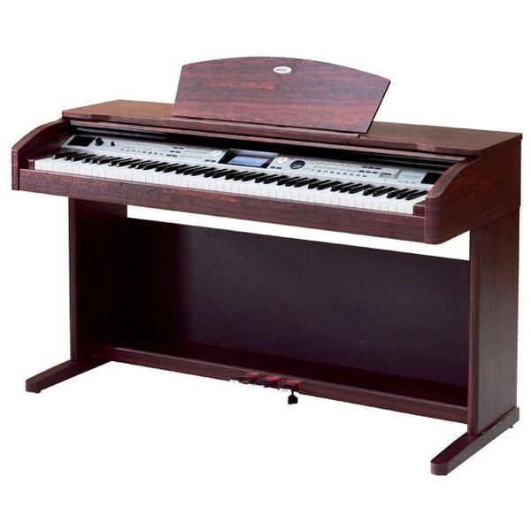 Цифровое пианино MedeliЦифровое пианино<br>Данное цифровое фортепиано отличается большим количеством встроенных тембров, двумя сотнями стилей автоаккомпанемента, градуированной клавиатурой с 88 взвешенными клавишами, 64-нотной полифонией и USB-подключением.<br>