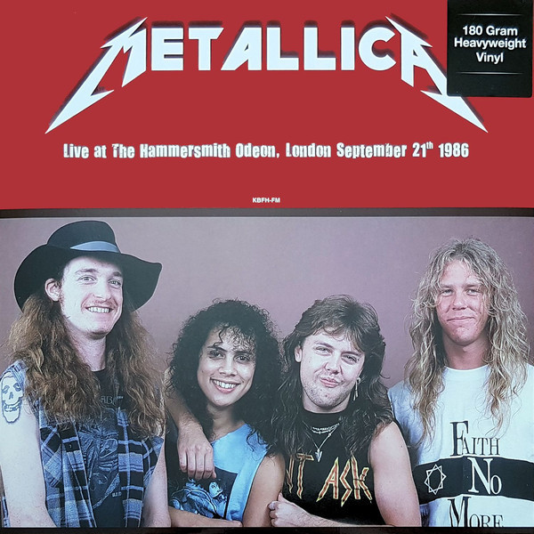 METALLICA METALLICA - LIVE AT HAMMERSMITH ODEON, LONDON. SEPTEMBER 21TH 1986 alice cooper theatre of death live at hammersmith 2009 dvd cd