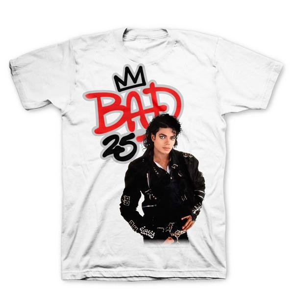 Футболка мужская Michael Jackson - Bad 25th Anniversary White (размер XL)