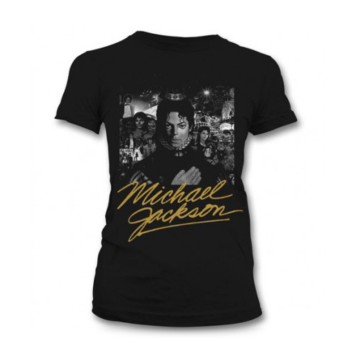 �������� ������� Michael Jackson - Black And White Cover Gold Black (������ M)