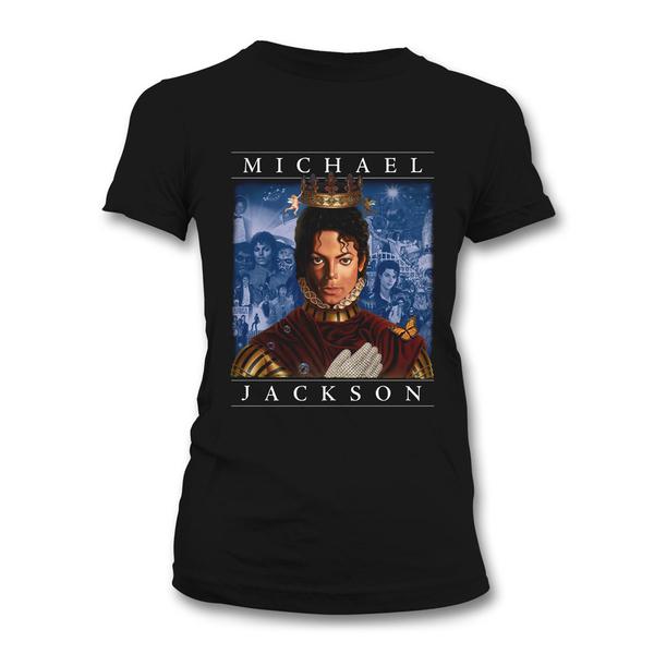 Футболка женская Michael Jackson - Retrospective Black (размер M)