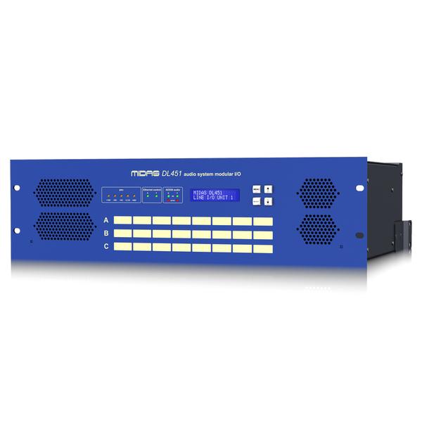 Аксессуар для концертного оборудования MidasАксессуар для концертного оборудования<br>Модульный стейдж-бокс без установленных карт, до 24 входов/выходов, 3 слота для карт, 2 AES50, 3U<br>