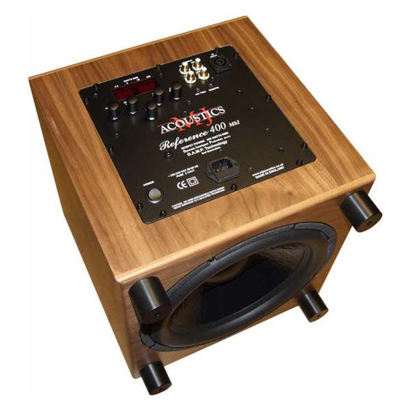 Активный сабвуфер MJ Acoustics Reference 400 Walnut активный сабвуфер mj acoustics pro 100 mkii walnut