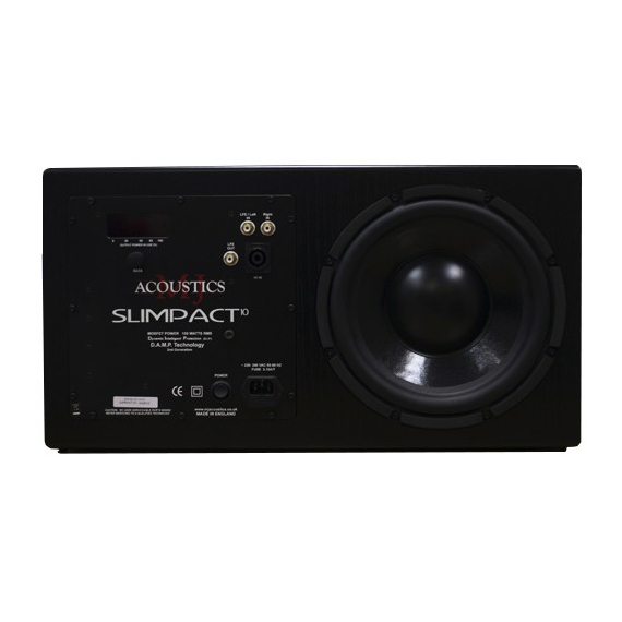 Активный сабвуфер MJ Acoustics Slimpact 10 Black Ash акустика центрального канала vienna acoustics theatro piano black
