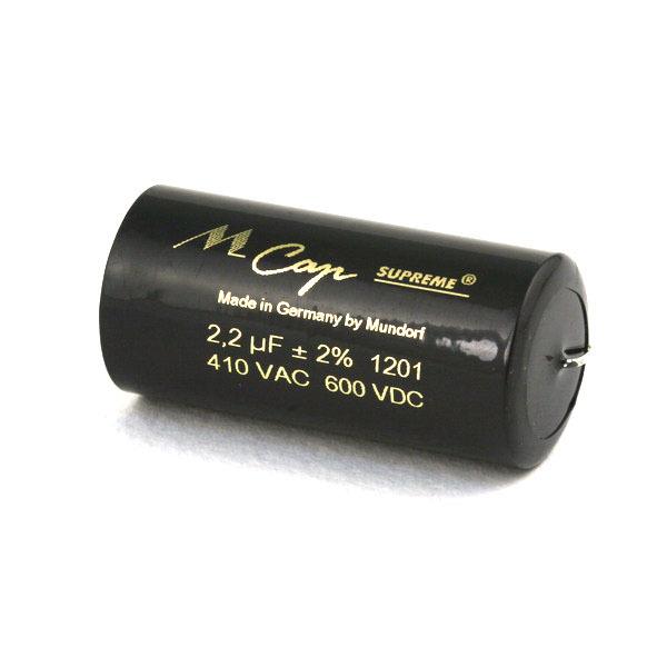 Mundorf MKP  MCap Supreme 600 VDC 2.2 uF mundorf mkp mcap supreme silver gold oil 1000 vdc 4 7 uf