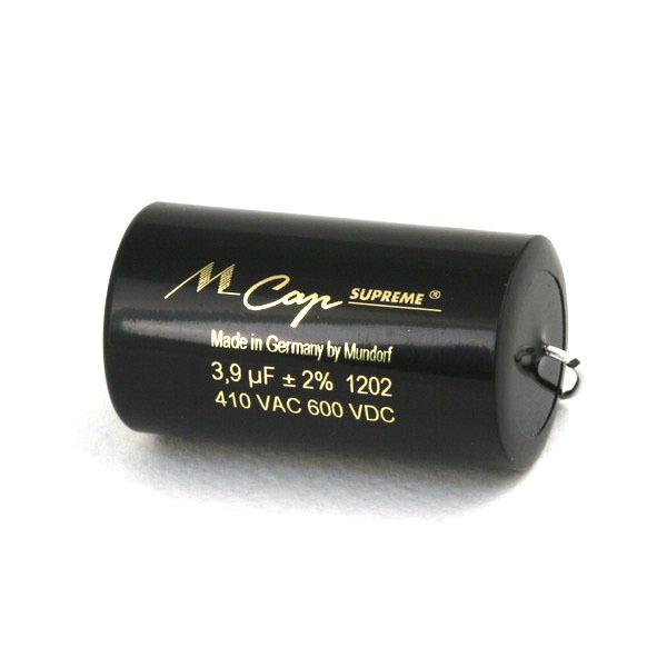 Mundorf MKP  MCap Supreme 600 VDC 3.9 uF mundorf mkp mcap supreme silver gold oil 1000 vdc 4 7 uf
