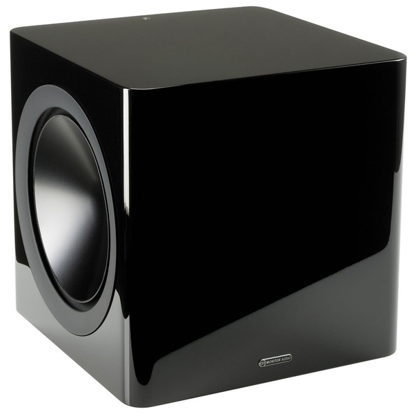 Активный сабвуфер Monitor Audio Radius 390 High Gloss Black (уценённый товар) quadral qube 8 aktiv black high gloss