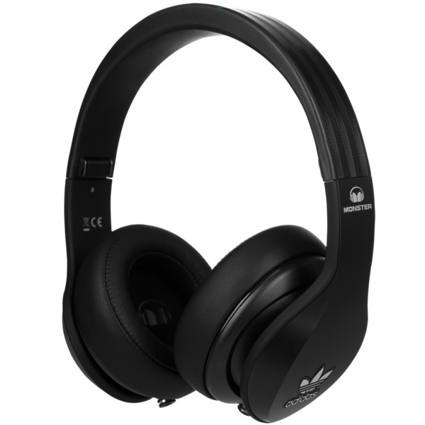 Охватывающие наушники Monster Adidas Originals Over Ear Headphones Black охватывающие наушники monster 24k dj over ear headphones