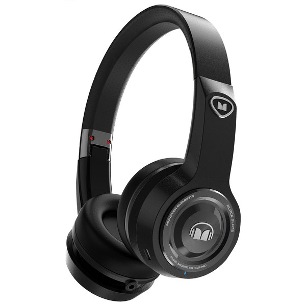 Беспроводные наушники Monster Elements Wireless On-Ear Black Slate