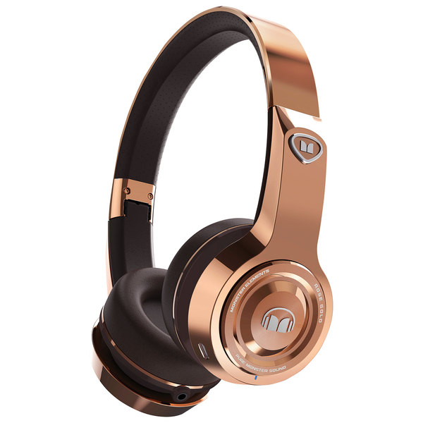 Беспроводные наушники Monster Elements Wireless On-Ear Rose Gold наушники beats solo3 wireless on ear headphones rose gold