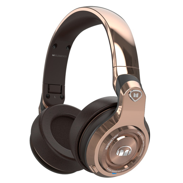 Беспроводные наушники Monster Elements Wireless Over-Ear Rose Gold наушники beats solo3 wireless on ear headphones rose gold