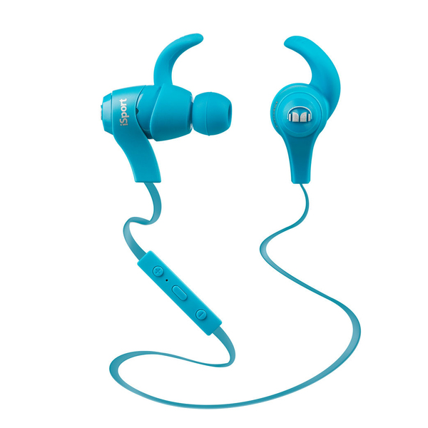 Monster iSport Bluetooth Wireless In-Ear Headphones Blue