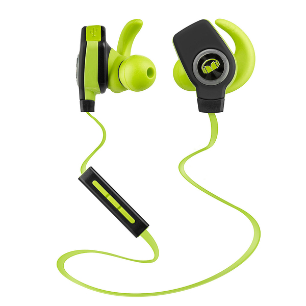 Беспроводные наушники Monster iSport Bluetooth Wireless SuperSlim In-Ear Green (уценённый товар)