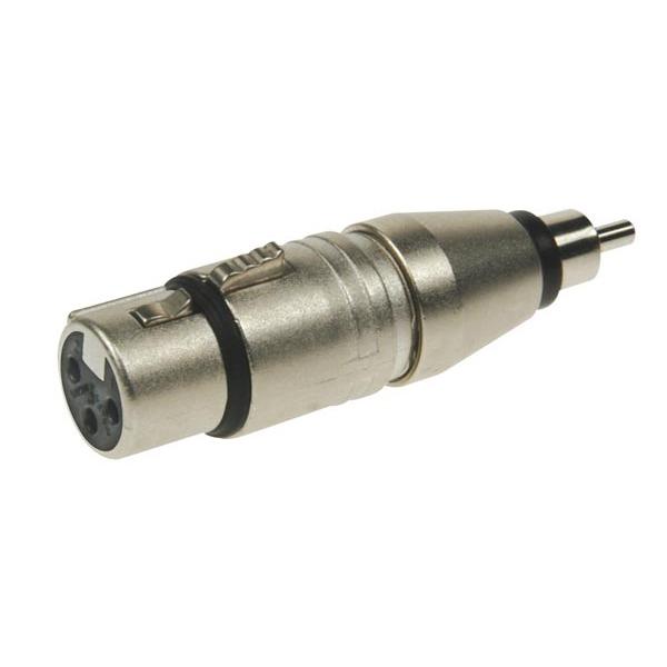 Переходник NeutrikПереходник<br>Адаптер XLR 3 контакта гнездо - RCA штекер<br>