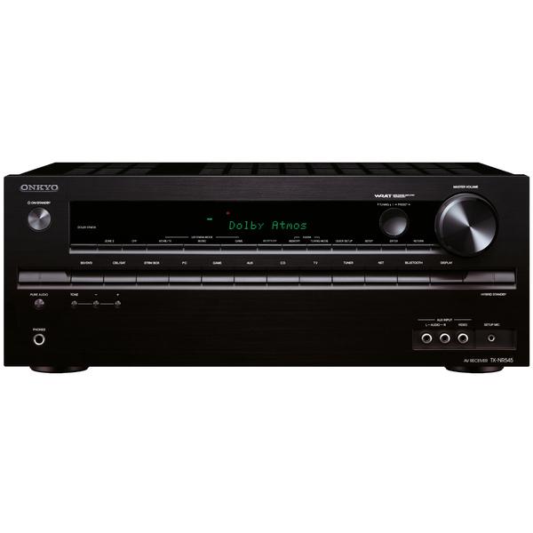 AV ресивер OnkyoAV ресивер<br>AV-ресивер 7.2 с поддержкой Dolby Atmos, мощность 7 х 120 Вт (6 Ом), Bluetooth, 6 HDMI, USB, Ethernet, габариты (ШхВхГ) 435x174x379 мм, вес 8,6 кг.<br>