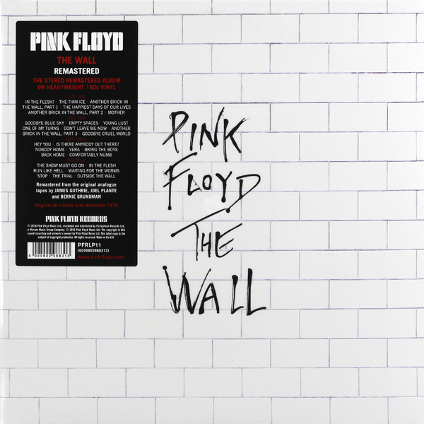 PINK FLOYD PINK FLOYD - THE WALL (2 LP, 180 GR) pink floyd pink floyd the piper at the gates of dawn 180 gr