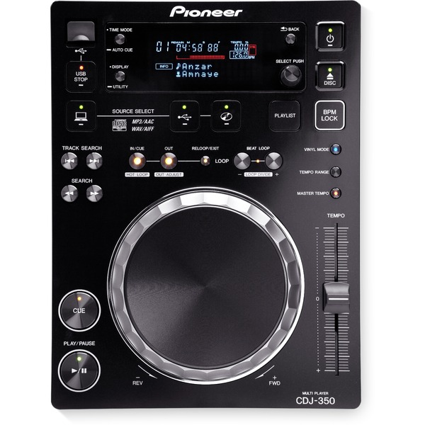 DJ CD проигрыватель Pioneer CDJ-350 Black цена и фото