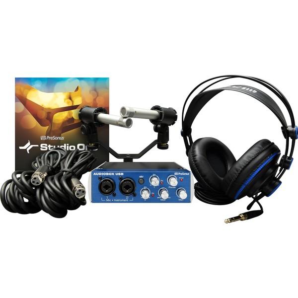 Внешняя студийная звуковая карта PreSonus AudioBox Stereo аудио интерфейс presonus audiobox 44vsl ubs 2 0