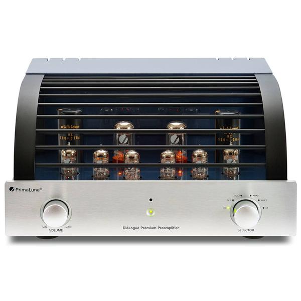 Ламповый предусилитель PrimaLunaЛамповый предусилитель<br>Ламповый предварительный усилитель класса High End с низким входным сопротивлением, лампы: 6 х 12AU7 на входе, 2 х 5AR4 на выходе, диапазон частот 10 Гц – 95 кГц (± 3 дБ), входы: 5 RCA пульт ДУ, габариты 406х211х386 мм, вес 24 кг.<br>