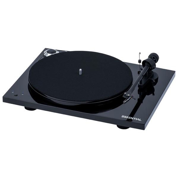 Виниловый проигрыватель Pro-Ject Essential III RecordMaster Piano Black (OM-10) клавиатура asus strix tactic pro cherry mx black black usb 90yh0081 b2ra00