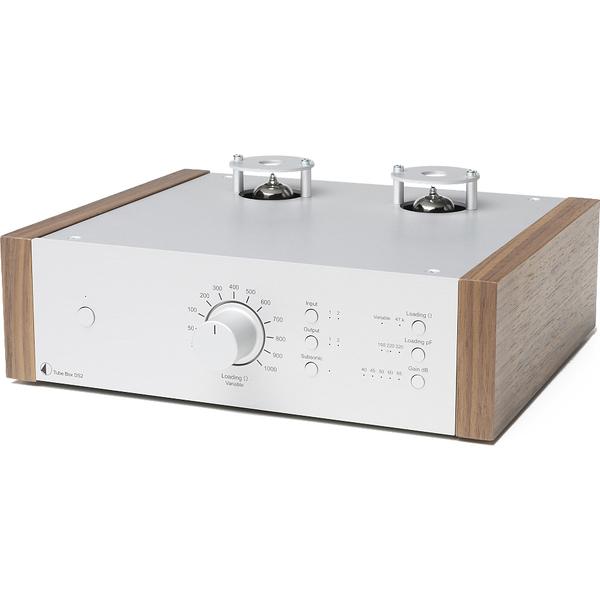Ламповый фонокорректор Pro-Ject Tube Box DS2 Silver/Walnut цена 2017
