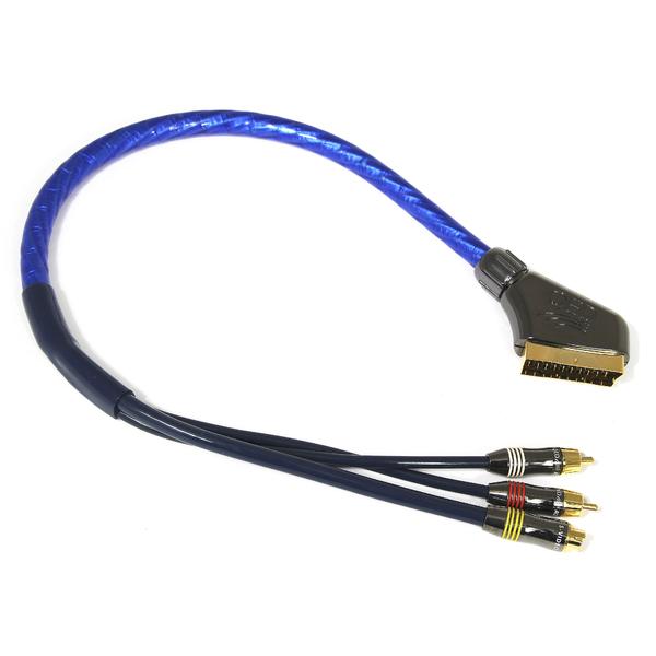 QED AV1605 Scart-2RCA/S-Video 0.5 m