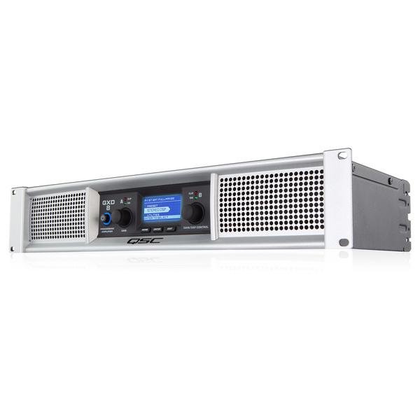 Профессиональный усилитель мощности QSCПрофессиональный усилитель мощности<br>QSC GXD 8 2-канальный усилитель мощности, оборудован встроенным DSP процессором для эффективной обработки аудиосигнала. Усилитель имеет размер 2U  и устанавливается в 19  рэковую стандартную стойку<br>