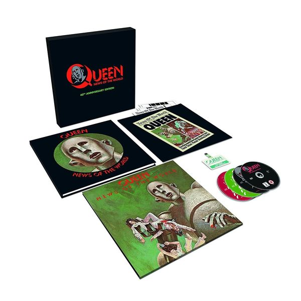 QUEEN QUEEN - News Of The World (40th Anniversary) (lp+3 Cd+dvd) deep purple deep purple stormbringer 35th anniversary edition cd dvd