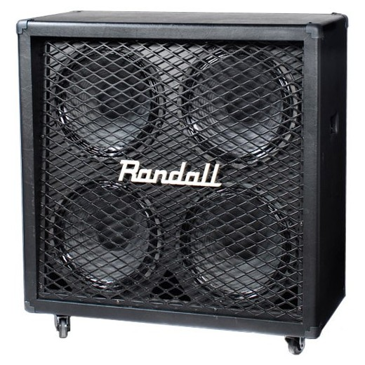 Гитарный кабинет RandallГитарный кабинет<br>Акустический кабинет скошеный, 4х12, 320/260 Вт . Параллельно mono8 Ом/стерео 16 Ом. Динамики RS12-80-8. Колесики в комплекте<br>