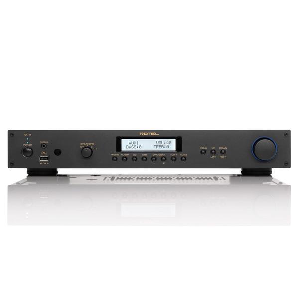 Стереоусилитель RotelСтереоусилитель<br>Интегральный усилитель с цифровыми входами, мощность 2 х 40 Вт (8 Ом), ЦАП Wolfson WM8740, входы: USB, оптический, коаксиальный, 2 RCA, USB, ММ-фонокорректор, выход на наушники, RS-232, габариты 430x72x342 мм, вес 6,4 кг.<br>