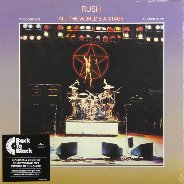 RUSH RUSH - All The World's Stage (2 Lp, 180 Gr) rush rush moving pictures lp