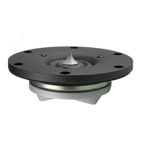 Динамик ВЧ ScanSpeakДинамик ВЧ<br>Диаметр 104 мм, полоса пропускания 2000 - 45000 Гц, резонансная частота 520 Гц, мощность 160 Вт, чувствительность 94,5 дБ, сопротивление 4 Ом.<br>