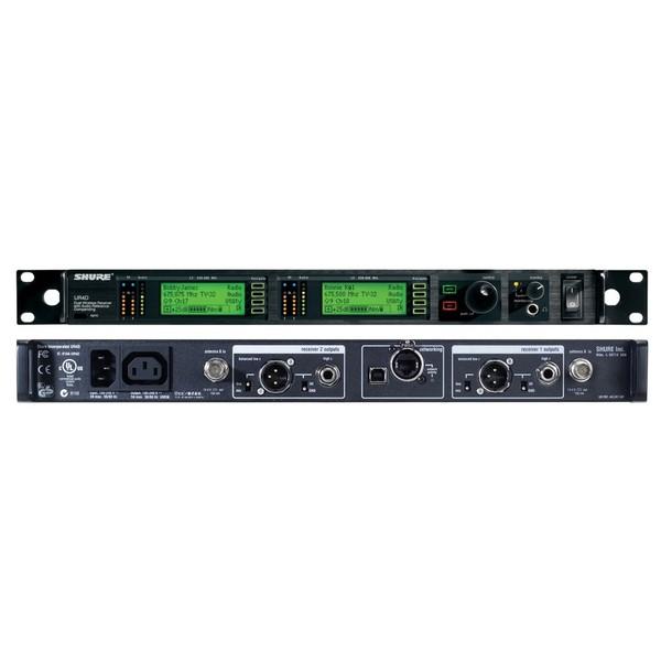 все цены на Приемник для радиосистемы Shure UR4D+ J5E 578 - 638 MHz онлайн