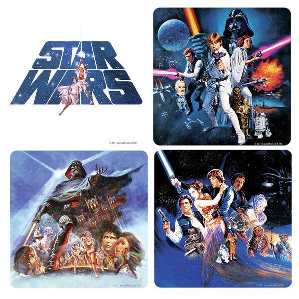 Подставки под стаканы Star Wars (4 шт.)Подставка<br>Подставка на пробковой основе, размер 10 х 10 см.<br>