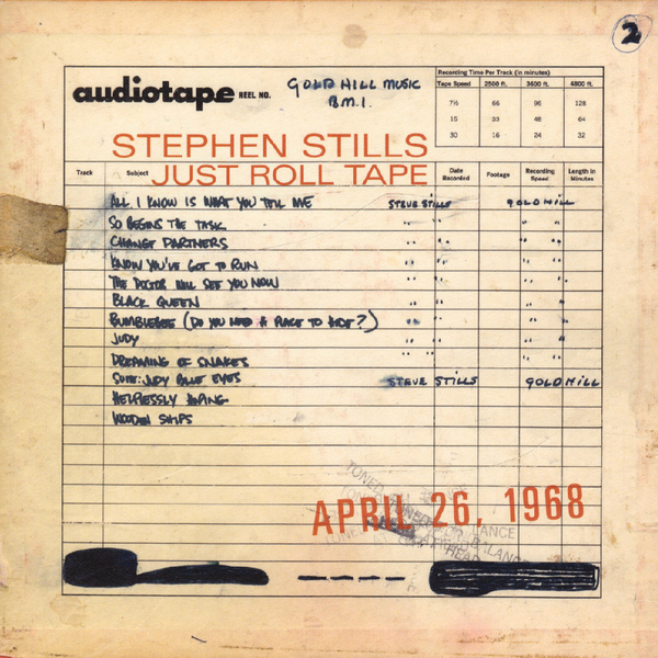 Stephen Stills Stephen Stills - Just Roll Tape April 26 1968 (180 Gr) толстовка сноубордическая детская burton bonded blue ray