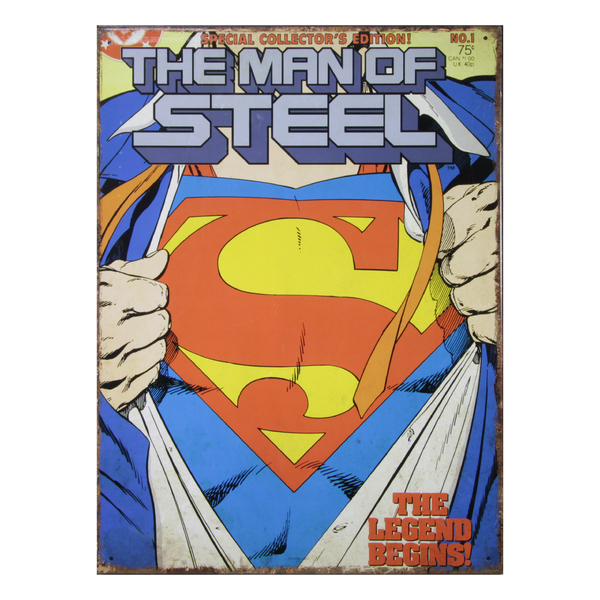 Стальной знак Superman - The Man of Steel Comics No.1