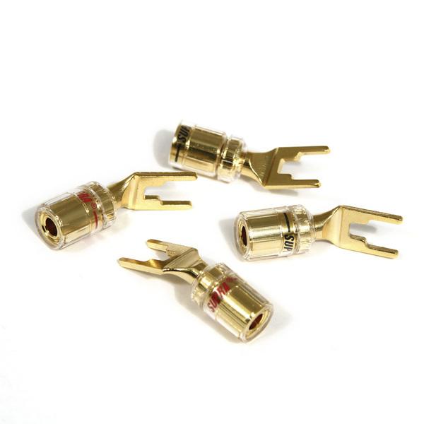 Разъем акустический типа  лопатка   Combicon Spade (4 шт.)
