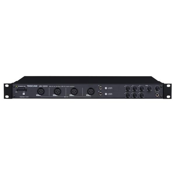 Внешняя студийная звуковая карта TASCAMВнешняя студийная звуковая карта<br>Профессиональный рэковый USB-аудиоинтерфейс с шестью аналоговыми входами, из них – 4 микрофонных с предусилителями высокого разрешения и 2 комбинированных инструментальных/линейных. Есть DSP-процессор эффектов, DSP-микшер, поддерживаются драйвера ASIO, WDM и Core Audio.<br>