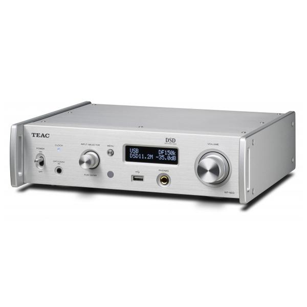 ������� ������������� TEAC������� �������������<br>���������� ������� ������������� � ������������ �������������, ���: 2 � AK4490EQ, 32 ���/384 ���, DSD  11,2 ���, Bluetooth aptX, �����: 3,5 �� ��������� ������������/����������,USB (��� A) ��� ������� ���������, ������������, ����������,  ����������� USB (��� B), Ethernet, ������: RCA, XLR, ��������, �������� 290�81�249 ��, ��� 3,9 ��.<br>