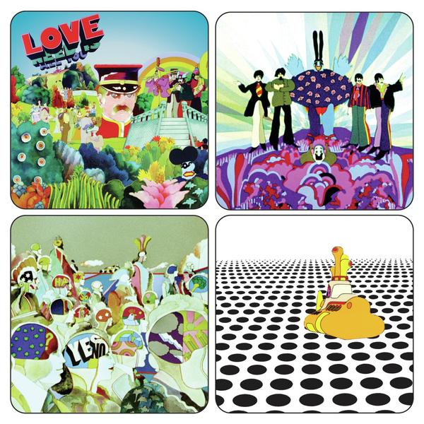 Подставки под стаканы The Beatles - Yellow Submarine (4 шт.)
