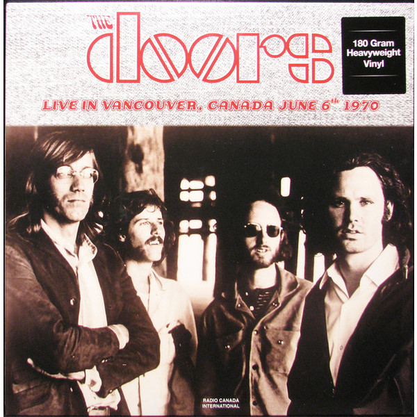 The Doors The Doors - Live In Vancouver, Canada June 6th 1970 (2 LP) the doors – the doors lp 3 cd