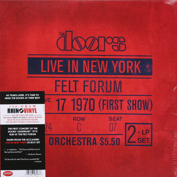 The Doors The Doors - Live In New York (2 Lp, 180 Gr) цена и фото