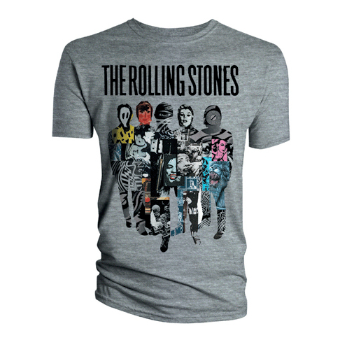 Футболка мужская The Rolling Stones - Silhouette Collage Grey (размер S) от Audiomania