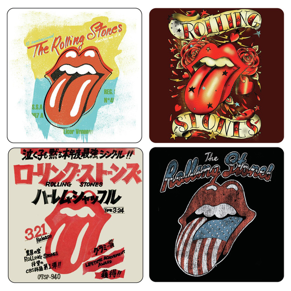 Подставки под стаканы The Rolling Stones - Tongues (4 шт.)
