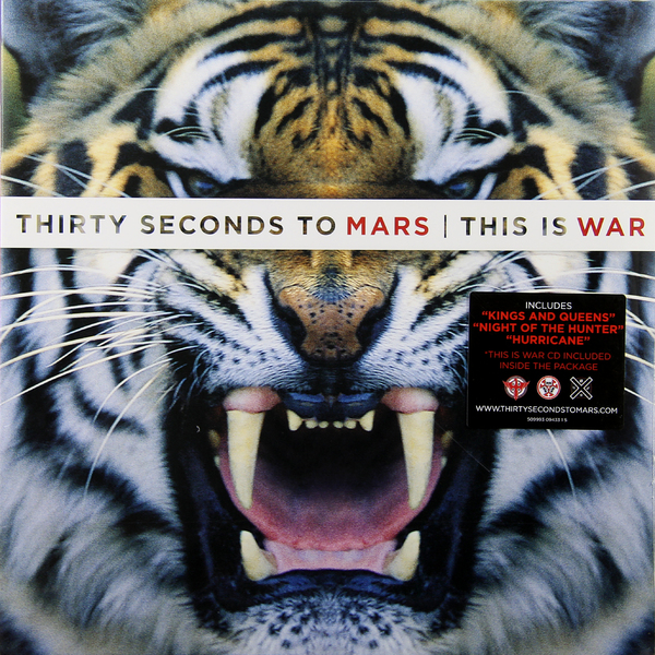 THIRTY SECONDS TO MARS THIRTY SECONDS TO MARS - THIS IS WAR (2 LP + CD) michael jacksons this is it cd